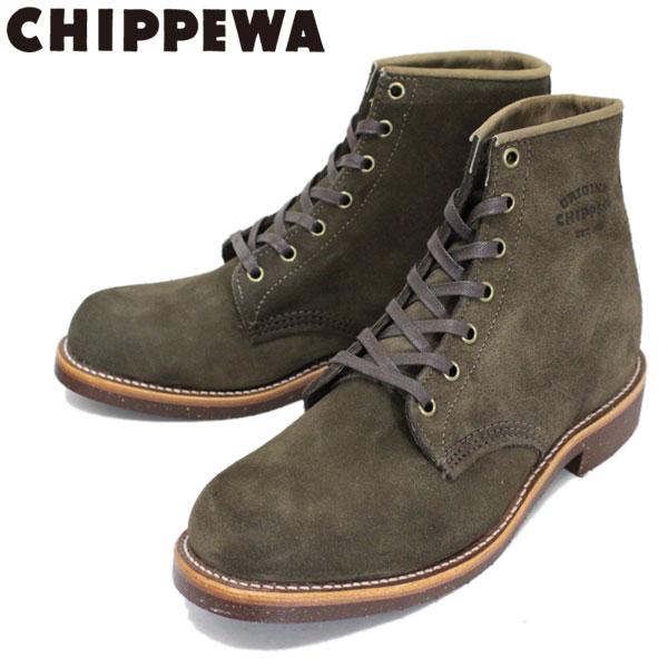 正規取扱店 CHIPPEWA (チペワ) 1901M85 6inch SUEDE UTILITY BOOTS 6インチ プレーントゥ スウェードユーティリティブーツ CHOCOLATE MOSS