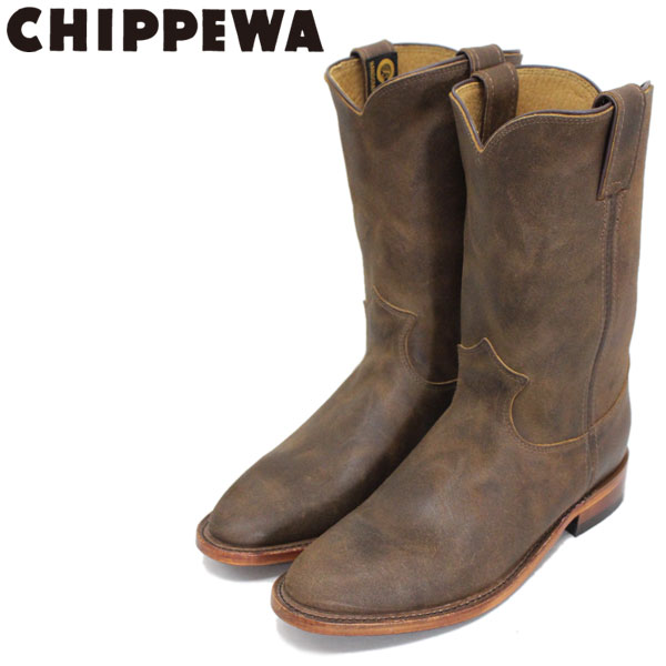 正規取扱店 CHIPPEWA (チペワ) 1901W61 Women's 10inch Roper(10インチローパー プレーントゥ・エンジニアブーツ) レディース Brown Bomber