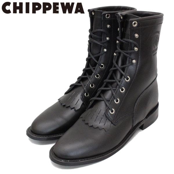 正規取扱店 CHIPPEWA (チペワ) 1901W66 Women's 8inch Lacer(8インチレーサー レースアップセミドレスブーツ) レディース Black