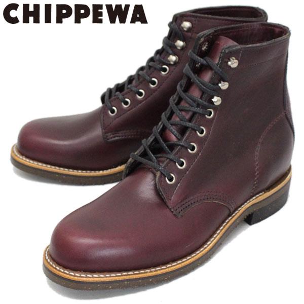 正規取扱店 CHIPPEWA (チペワ) 1939 6inch SERVISE BOOTS 6インチ プレーントゥ サービスブーツ BURGUNDY
