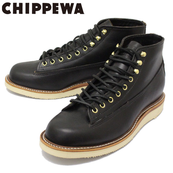 正規取扱店 CHIPPEWA (チペワ) 1958 5inch ORIGINAL LACE-TO-TOE BOOTS 5インチ レーストゥトゥブーツ BLACK