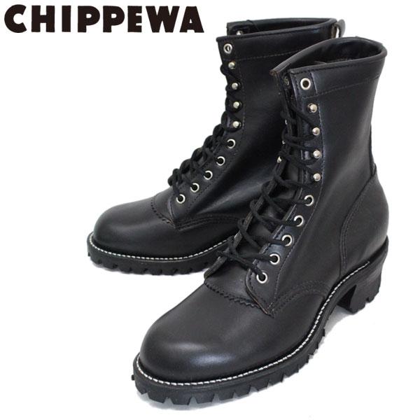 正規取扱店 CHIPPEWA (チペワ) 1957 ORIGINAL MOUNTAINEER BOOTS プレーントゥ マウンテニアリングブーツ BLACK