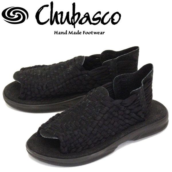 正規取扱店 Chubasco (チュバスコ) Aztec Original アズテック オリジナルブラックソール サンダル 016-Black/Black