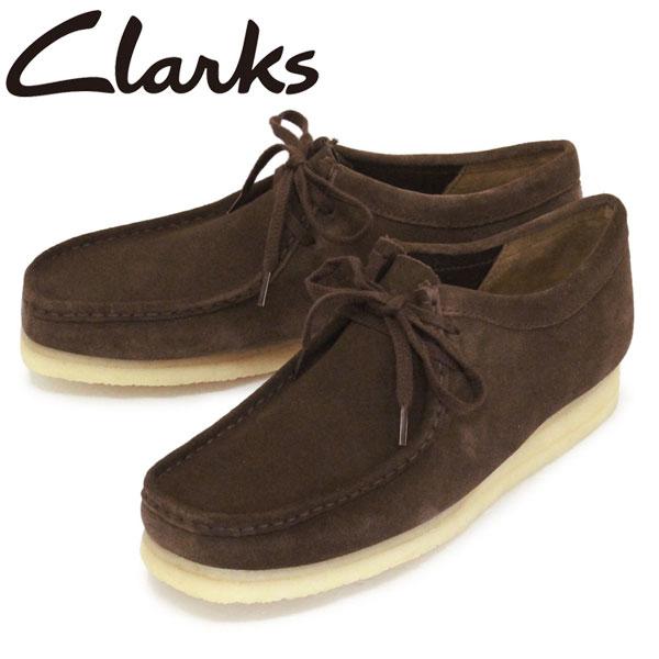 正規取扱店 Clarks (クラークス) 26103925 Wallabee ワラビー メンズ レザーブーツ Dark Brown Suede CL020