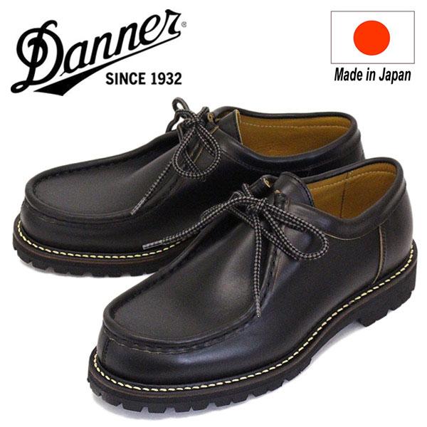 正規取扱店 DANNER (ダナー) D216211 Sellwood Tirolean セルウッドチロリアン レザーシューズ BLACK 日本製