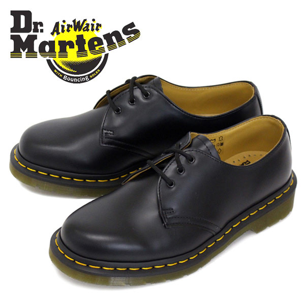 正規取扱店 Dr.Martens ドクターマーチン 1461 3EYE GIBSON 3ホール ギブソン BLACK ブラック (10085001)