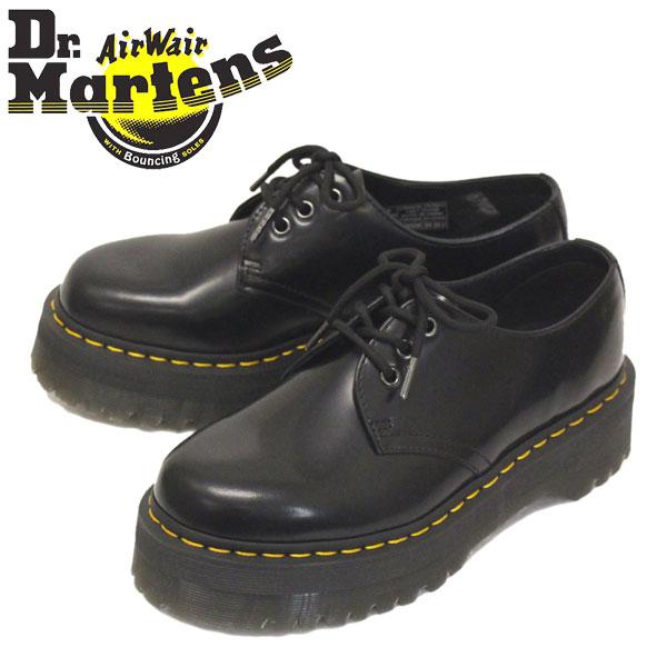 正規取扱店 Dr.Martens (ドクターマーチン) 25567001 1461 QUAD 3ホール レザーシューズ BLACK