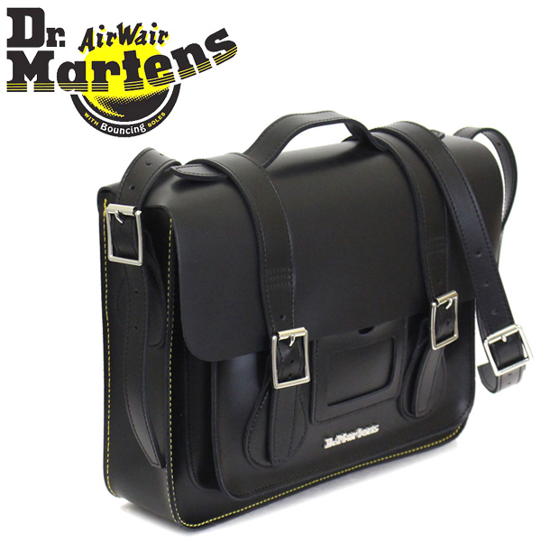136e6880d803 Regular dealer Dr.Martens (doctor Martin) AB096001 13 inches Leather  Satchel Bag leather Satchell bag BLACK KIEV