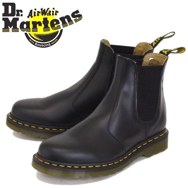 正規取扱店 Dr.Martens (ドクターマーチン) 22227001 2976 YELLOW STITCH サイドゴア チェルシーブーツ BLACK