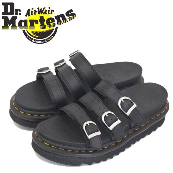 正規取扱店 Dr.Martens (ドクターマーチン) WMS 25456001 BLAIRE SLIDE 3ストラップ レディース レザーサンダル BLACK