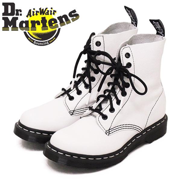 正規取扱店 Dr.Martens (ドクターマーチン) WMS 25818113 1460 PASCAL BLACK&WHITE パスカル 8ホール レディース レザーブーツ OPTICAL WHITE
