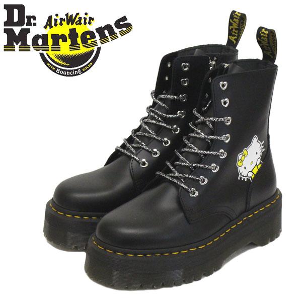 正規取扱店 Dr.Martens (ドクターマーチン) WMS 25913001 JADON HELLO KITTY 8H ジェイドン ハローキティー コラボ レディース レザーブーツ BLACK