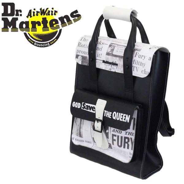 正規取扱店 Dr.Martens (ドクターマーチン) AC980001 SEX PISTOLS セックスピストルズ レザーバックパック BLACK/WHITE