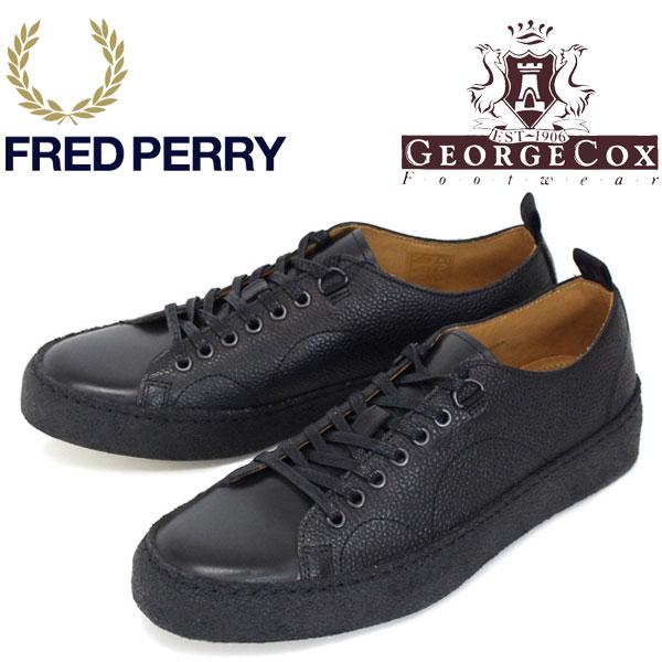 正規取扱店 FRED PERRY (フレッドペリー)XGEORGE COX (ジョージコックス) Wネーム B1174-102 TENNIS SHOE S/L スニーカー 102-BLACK FP267