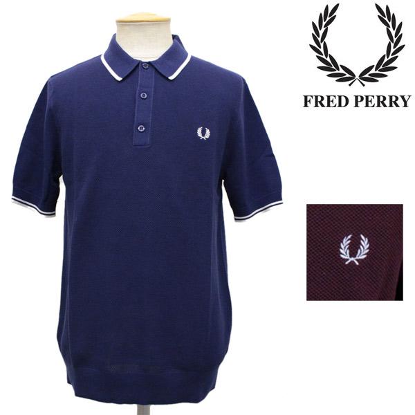 スーパーセール正規取扱店 FRED PERRY (フレッドペリー) K7200 KNITTED SHIRT (ニットポロシャツ) 全2色 FP223