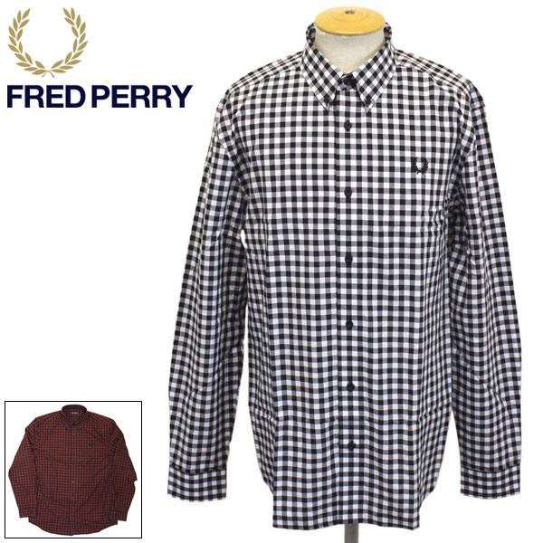 正規取扱店 FRED PERRY (フレッドペリー) M8561 2 COLOUR GINGHAM SHIRT 2カラー ギンガムシャツ 全2色 FP375