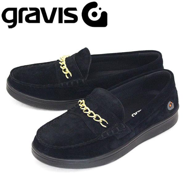 正規取扱店 gravis (グラビス) 25221 ODJICK CHAIN オジェック チェーン コインローファー BLACK GRV015