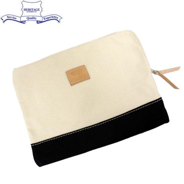 正規取扱店 HERITAGE LEATHER CO.(ヘリテージレザー) NO.8008 Clutch Bag(クラッチバッグ) Natural/Black HL036