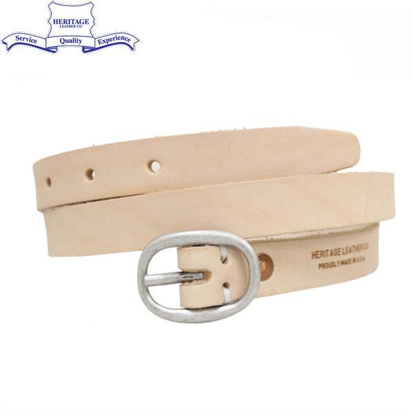 正規取扱店 HERITAGE LEATHER CO.(ヘリテージレザー) NO.7932 0.75inch Leather Belt (0.75インチ レザーベルト) Natural HL043