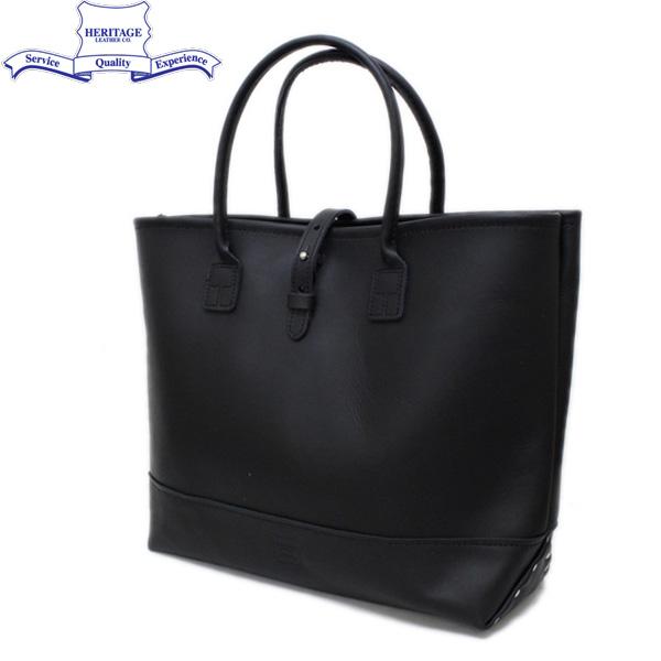 正規取扱店 HERITAGE LEATHER CO.(ヘリテージレザー) NO.7955ST Mocassin Leather Tote Bag(レザートートバッグ) Black/Black HL053