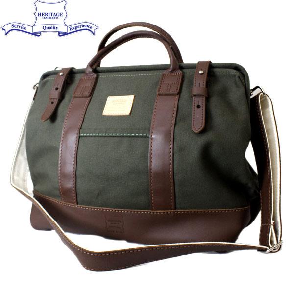 正規取扱店 HERITAGE LEATHER CO.(ヘリテージレザー) NO.7726 Mason Bag(メイソンバッグ) Olive/D.Brown HL073