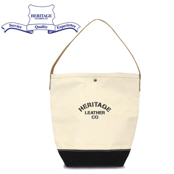 正規取扱店 HERITAGE LEATHER CO.(ヘリテージレザー) NO.7935 Bucket Tote バケットトートバッグ Natural/Black HL225