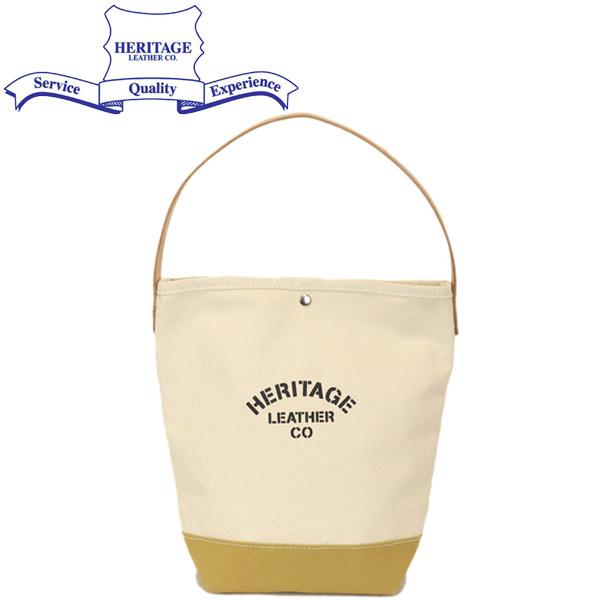 正規取扱店 HERITAGE LEATHER CO.(ヘリテージレザー) NO.7935 Bucket Tote バケットトートバッグ Natural/Tan HL211