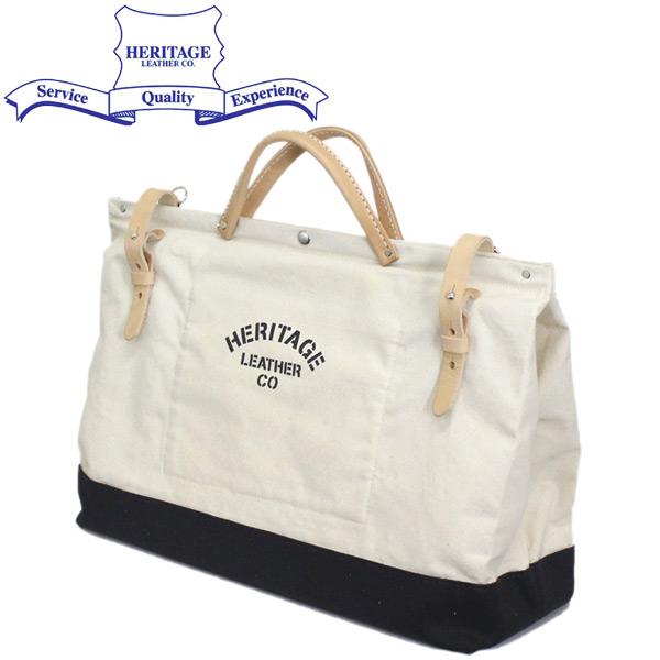 """正規取扱店 HERITAGE LEATHER CO.(ヘリテージレザー) NO.8288 20"""" Utility Art Bag 20インチユーティリティアートバッグ Natural x Black HL217"""