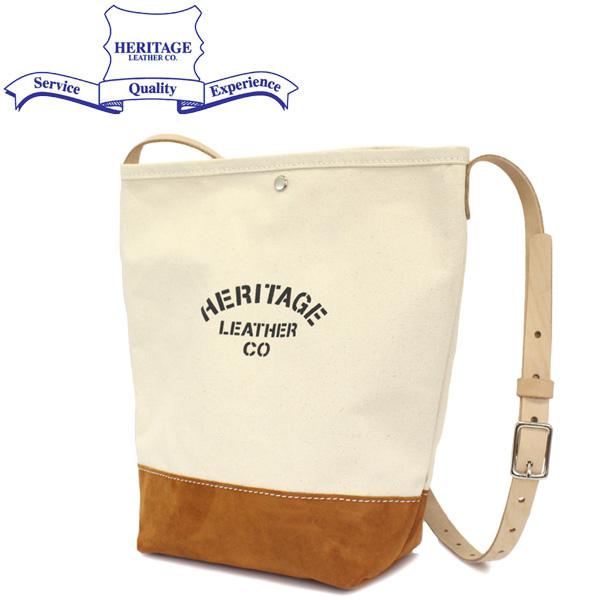 正規取扱店 HERITAGE LEATHER CO.(ヘリテージレザー) NO.8661 Suede Bottom Bucket Shoulder(バケットショルダーバッグ) Natural/Brown HL203
