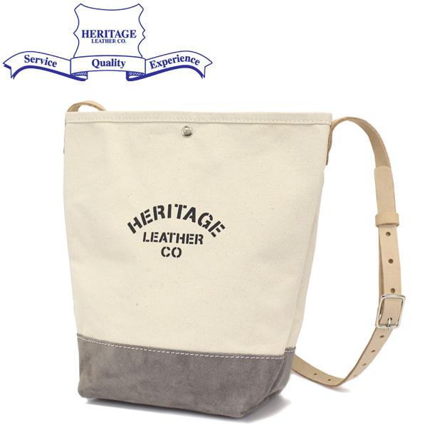 正規取扱店 HERITAGE LEATHER CO.(ヘリテージレザー) NO.8661 Suede Bottom Bucket Shoulder(バケットショルダーバッグ) Natural/Grey HL204