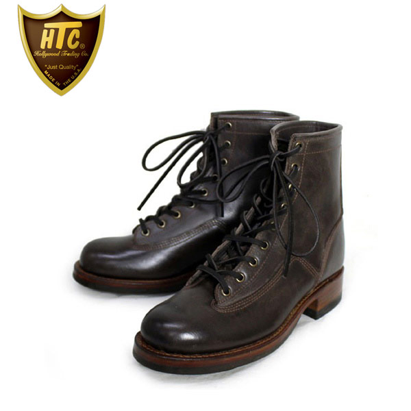 正規取扱店 HTC(Hollywood Trading Company) SANTA ROSA(サンタローサ) #PLACERVILLE LACE UP BOOTS(レースアップブーツ) BROWN ブラウン