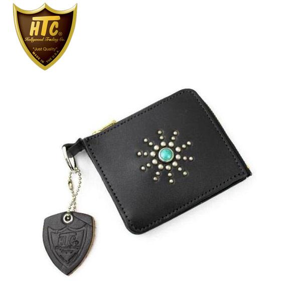 正規取扱店 HTC(Hollywood Trading Company) #STARBURST(スターバースト) TYPE 5 CARD CASE(カードケース) ブラックxターコイズ