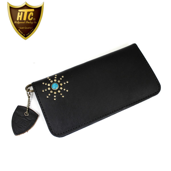 正規取扱店 HTC #STAR BURST2 TYPE 1 LONG WALLET(タイプ1ロングウォレット) 財布 ブラック×ターコイズ