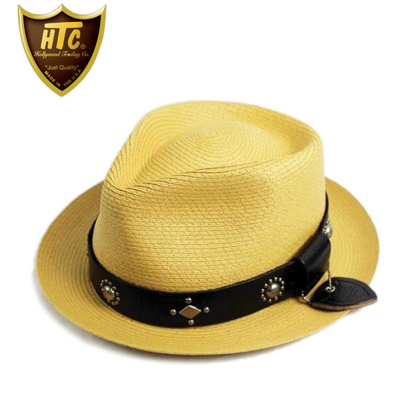正規取扱店 HTC(Hollywood Trading Company) #LCS-4 with SEWN BRAID PINCH FEDORA HAT BAMBOO バンブー