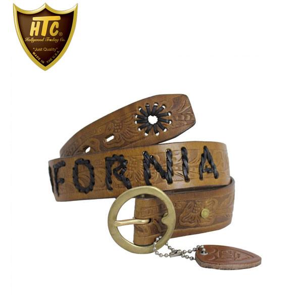 正規取扱店 HTC #HWV-CALIFORNIA WOVEN BELT ウーブンベルト L.BROWN ライトブラウン