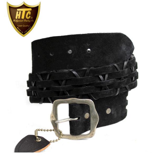 正規取扱店 HTC#HWV-03 SUEDE Belt スエードウーブンベルト Black ブラック