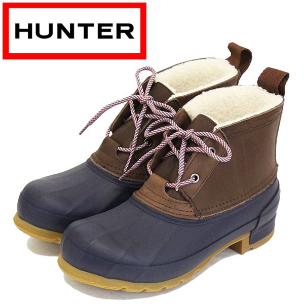 正規取扱店 HUNTER (ハンター) WFS2050FGL WOMEN'S ORIGINAL PAC SHORT BOOT レディース ショートブーツ BURNT SIENNA / NAVY HU194