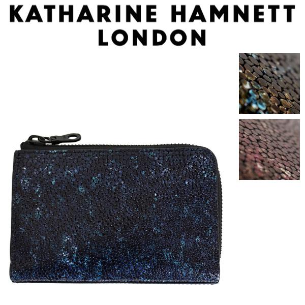 正規取扱店 KATHARINE HAMNETT LONDON (キャサリンハムネット ロンドン) 490-52501 Garapagos L型ファスナー ミドルBOXウォレット 全3色