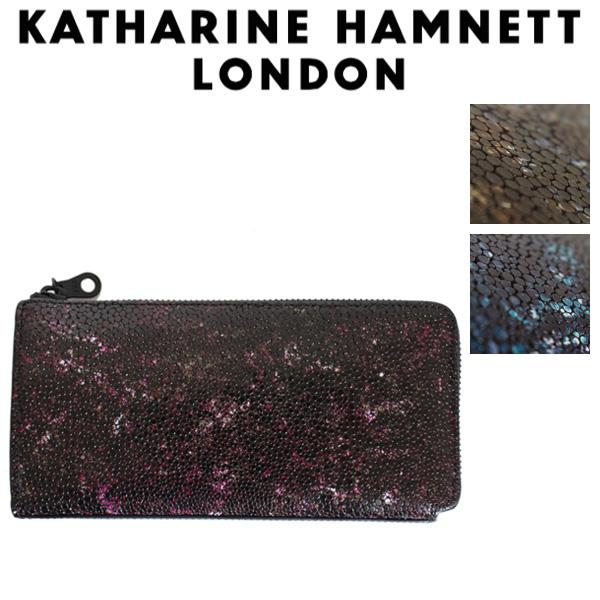 正規取扱店 KATHARINE HAMNETT LONDON (キャサリンハムネット ロンドン) 490-52502 Garapagos L型ファスナー 束入れ ロングウォレット 全3色