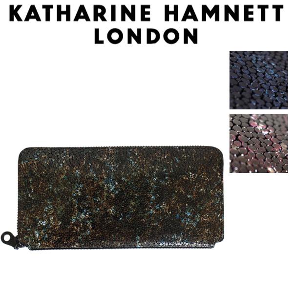 正規取扱店 KATHARINE HAMNETT LONDON (キャサリンハムネット ロンドン) 490-52503 Garapagos ラウンドファスナー 束入れ ロングウォレット 全3色