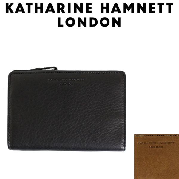 正規取扱店 KATHARINE HAMNETT LONDON (キャサリンハムネット ロンドン) 490-57004 Soft 中ファスナー付L型ファスナー ミドルウォレット 全2色