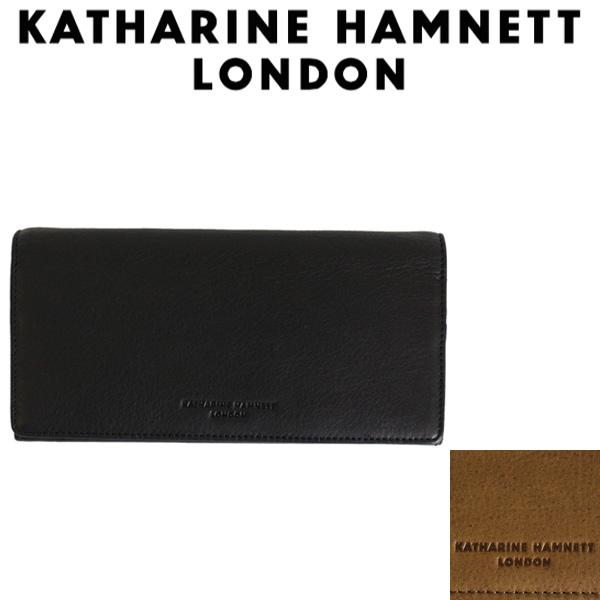 正規取扱店 KATHARINE HAMNETT LONDON (キャサリンハムネット ロンドン) 490-57006 Soft 束入れ ロングウォレット 全2色