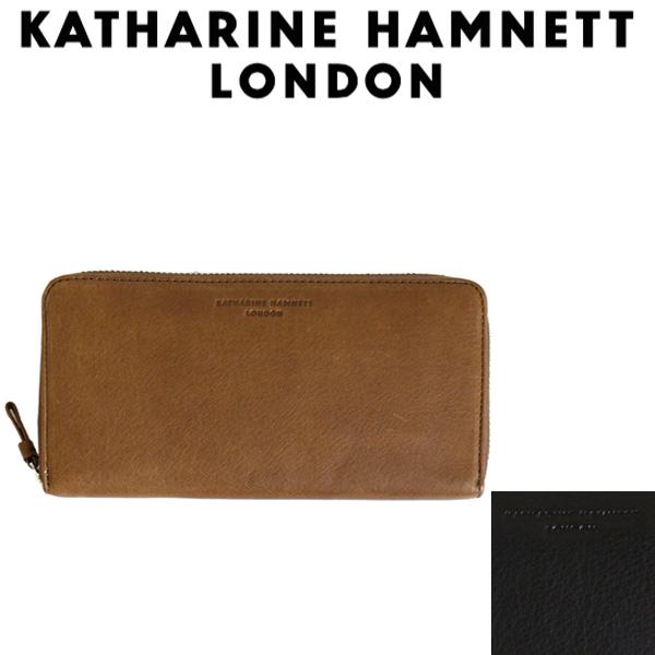 正規取扱店 KATHARINE HAMNETT LONDON (キャサリンハムネット ロンドン) 490-57007 Soft ラウンドファスナー 束入れ ロングウォレット 全2色