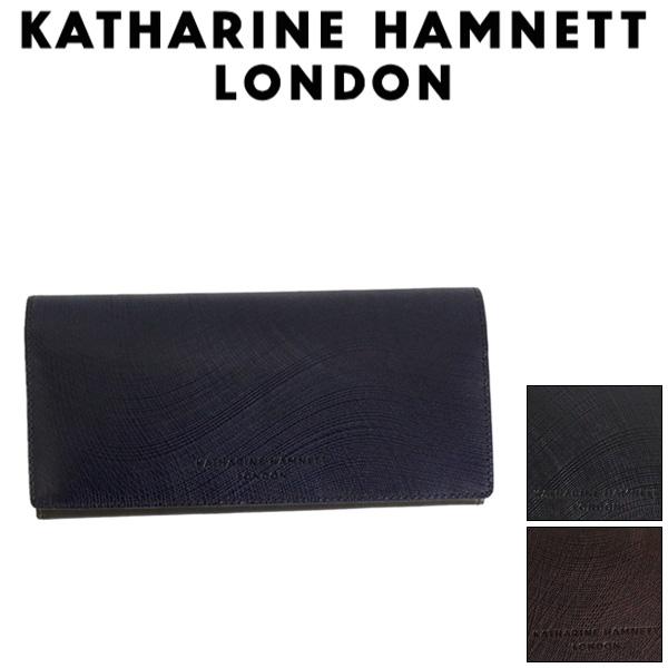 正規取扱店 KATHARINE HAMNETT LONDON (キャサリンハムネット ロンドン) 490-57304 Wave 束入れ ロングウォレット 全3色
