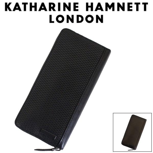 正規取扱店 KATHARINE HAMNETT LONDON (キャサリンハムネット ロンドン) 490-58004 Mesh ラウンドファスナー ロングウォレット 全2色