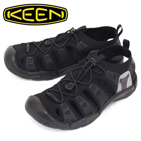 正規取扱店 KEEN (キーン) 1023137 Men's EVOFIT 1 エヴォフィット ワン サンダル TRIPLE BLACK KN448