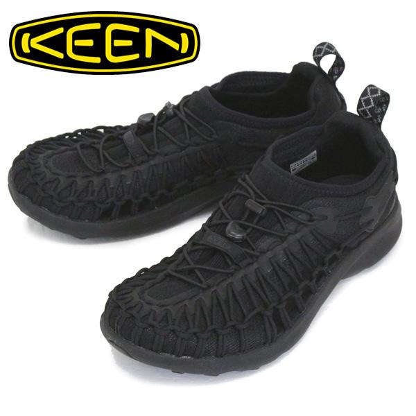 正規取扱店 KEEN (キーン) 1022377 Men's UNEEK SNK ユニーク スニーク スニーカー BLACK/BLACK KN457