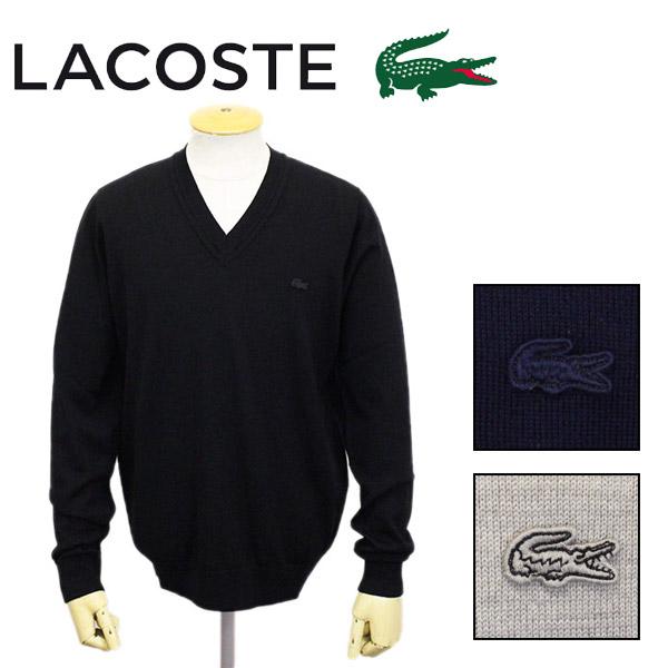 正規取扱店 LACOSTE (ラコステ) AH987EL Sweaters ウール Vネック ニット 長袖 全3色 LC175