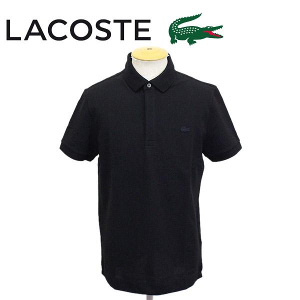 正規取扱店 LACOSTE (ラコステ) PH5522M PIQUE STRETCH レギュラーフィット ポロシャツ 半袖 031-ブラック LC196