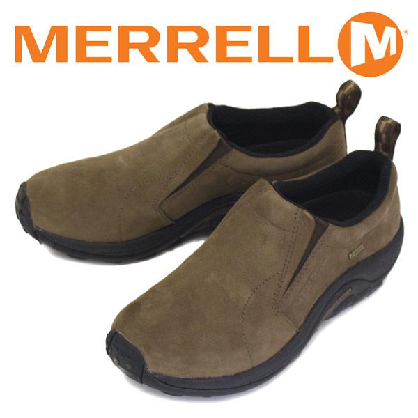 正規取扱店 MERRELL (メレル) J42303 JUNGLE MOC GORE-TEX ジャングルモック ゴアテックス ヌバックレザーシューズ DARK EARTH MRL013
